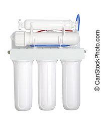 moderno, agua, filtro
