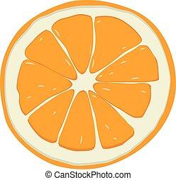 sweet orange fruit theme vector art illustration
