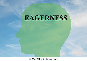 Eagerness - personality concept - Render illustration of...