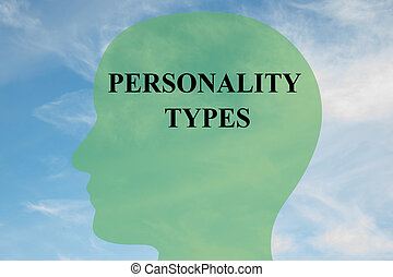 Personality Types concept - Render illustration of...