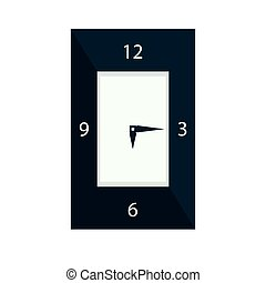 clock icon Vector Illustration isolated on white background.