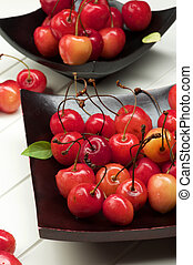 Sweet Maraschino Cherries - Arrangement Fresh Ripe Sweet...
