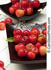 Sweet Maraschino Cherries - Arrangement Fresh Ripe Sweet...
