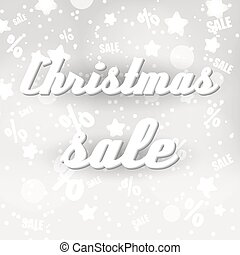 christmas sale colorful white night stars background eps10