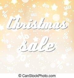 christmas sale colorful yellow night stars background eps10