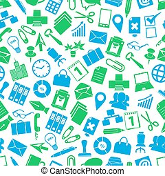 office work theme simple icons seamless pattern eps10