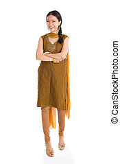 Female in Punjabi suits. - Portrait of young mixed race...