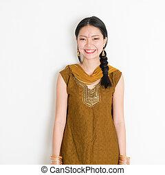 漢語, 莎麗服, 印第安語, 女性