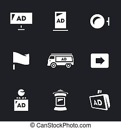 Vector Set of Advertising Icons Carriers and forms -...