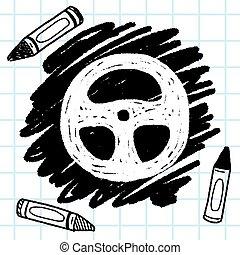 Doodle Steering wheel