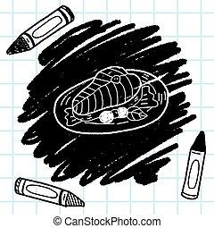 doodle, salmão