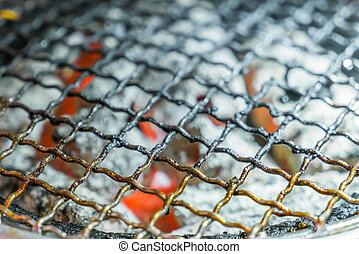 Used dirty hot barbecue grill - Used dirty hot barbecue...