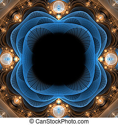 Abstract fractal  3d frame