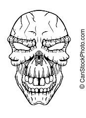 The image of the skull. - The image of the terrible skull....
