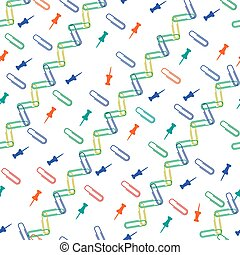 Nice pattern with colored paper clips and buttons