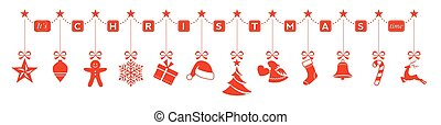 Its Christmas time, hanging orname - Set of Christmas...