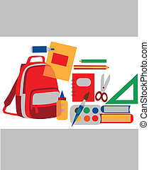Back to school colorful accessories