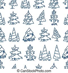 Winter forest seamless pattern. Merry Christmas and Happy...