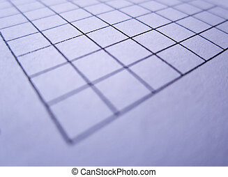 Blank of paper and blue grid