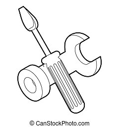 Bolt driver icon, outline isometric icon - Bolt driver icon....