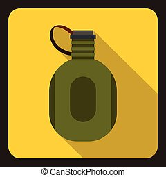 Watter bottle icon, flat style - Watter bottle icon. Flat...