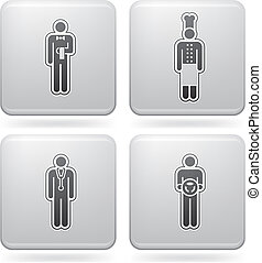 Man\'s Occupation  (part of Platinum Square 2D Icons Set)