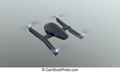 Security drones flying in the sky - Security drones with...