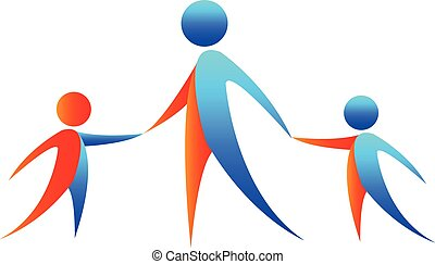 abstract people holding hands - abstract three people...