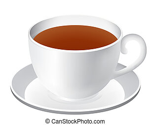 Cup of tea - Illustration of the cup of tea isolated over...