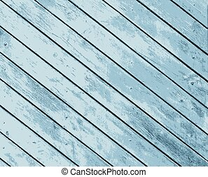 Vector texture old wooden boards of blue color