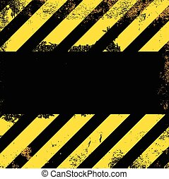 Vector grunge background with yellow stripes on black...