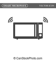 Smart microwave oven icon. Internet of things. IoT