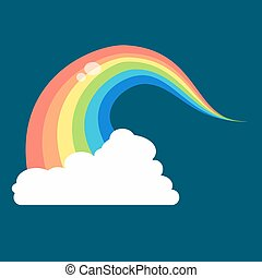 Rainbow icon flat. LGBT concept image. Homosexual minority...