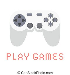 Gamepad Video game. Flat design vector illustration.