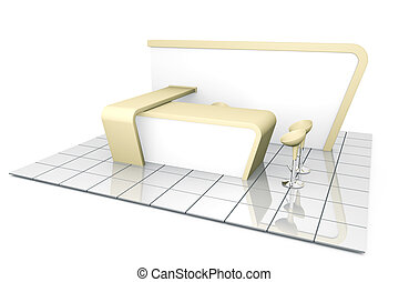 Trade Exhibition Stand - Company trade exhibition stand. 3D...