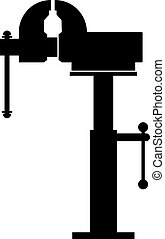 Adjustable vise stand, shade picture