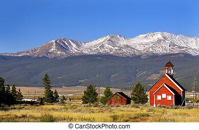 Old school - Historic school house in Colorado rocky...
