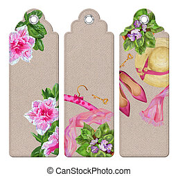Spring Watercolor Bookmarks - Spring watercolor bookmarks...