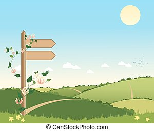 footpath sign - a vector illustration in eps 10 format of a...
