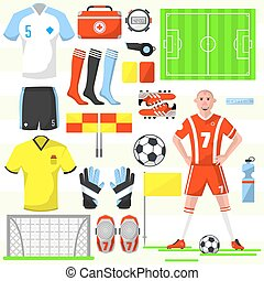 Set of football soccer icons. - Set of football icons in...