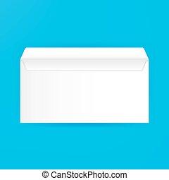 White Blank Open Envelope Mockup. Vector Illustration of...