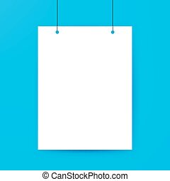 Blank Poster Template Vector Illustration of Paper Sheet for...