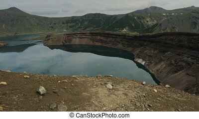 Lake in the Caldera volcano Ksudach. South Kamchatka Nature...