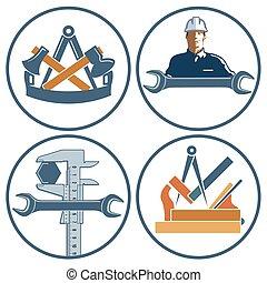 Handwerkerzeichen.eps - Craftsman, locksmith, carpenter,...