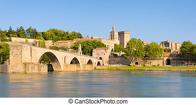 Evening Avignon - Panorama of evening Avignon in summer