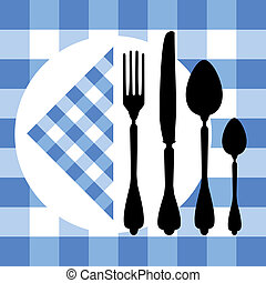 Design with cutlery silhouettes