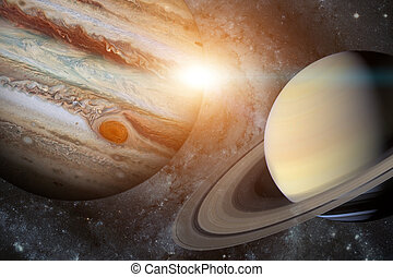 Solar System - Saturn. It is the sixth planet from the Sun....