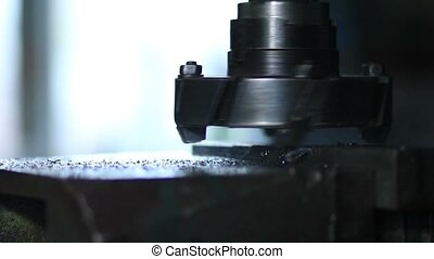 Rotating head with drilling machine bits and tools - Close...