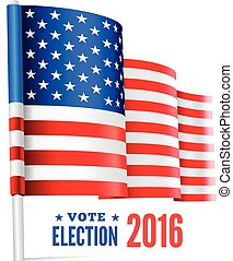Presidential election in USA Vector illustration with flag