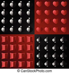 seamless pattern on poker - the pattern is divided into four...